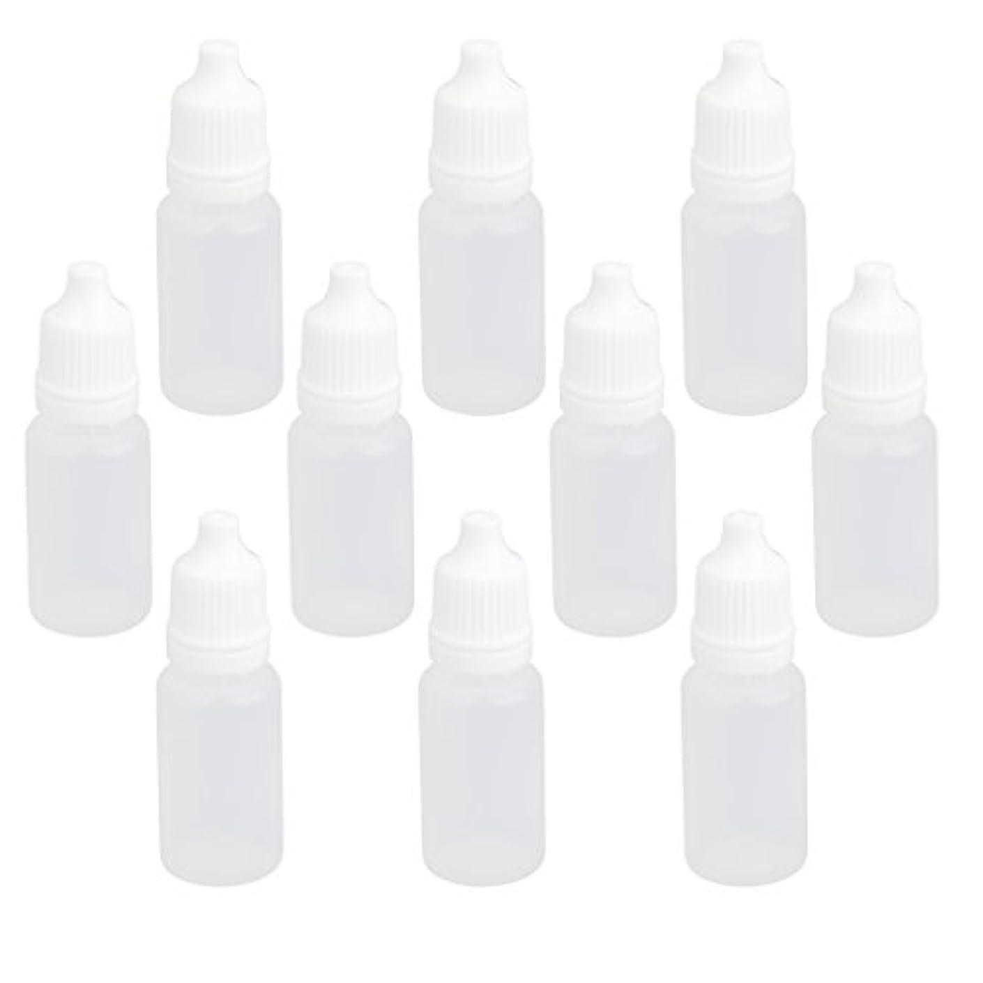 違う動作エイリアス【ノーブランド品】ドロッパーボトル 点眼 液体 貯蔵用 滴瓶 プラスチック製 10個 (10ml)