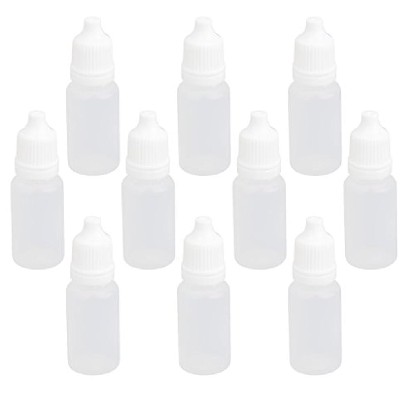 傾斜起きて七面鳥【ノーブランド品】ドロッパーボトル 点眼 液体 貯蔵用 滴瓶 プラスチック製 10個 (10ml)