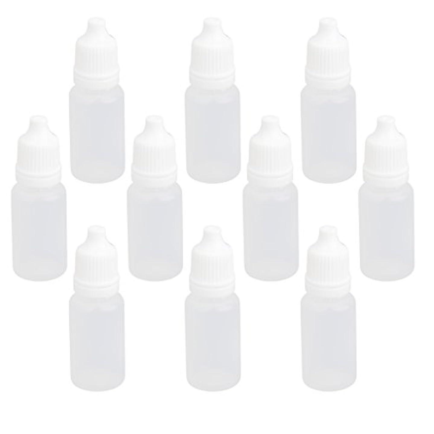 秘書虎見物人【ノーブランド品】ドロッパーボトル 点眼 液体 貯蔵用 滴瓶 プラスチック製 10個 (10ml)