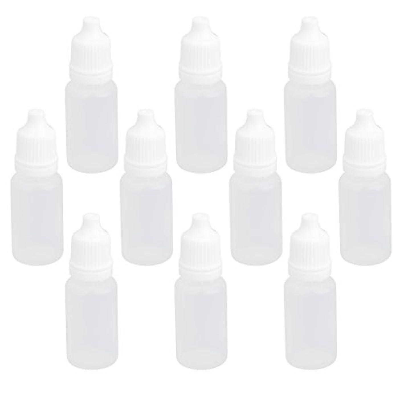 硬い見習い収入【ノーブランド品】ドロッパーボトル 点眼 液体 貯蔵用 滴瓶 プラスチック製 10個 (10ml)