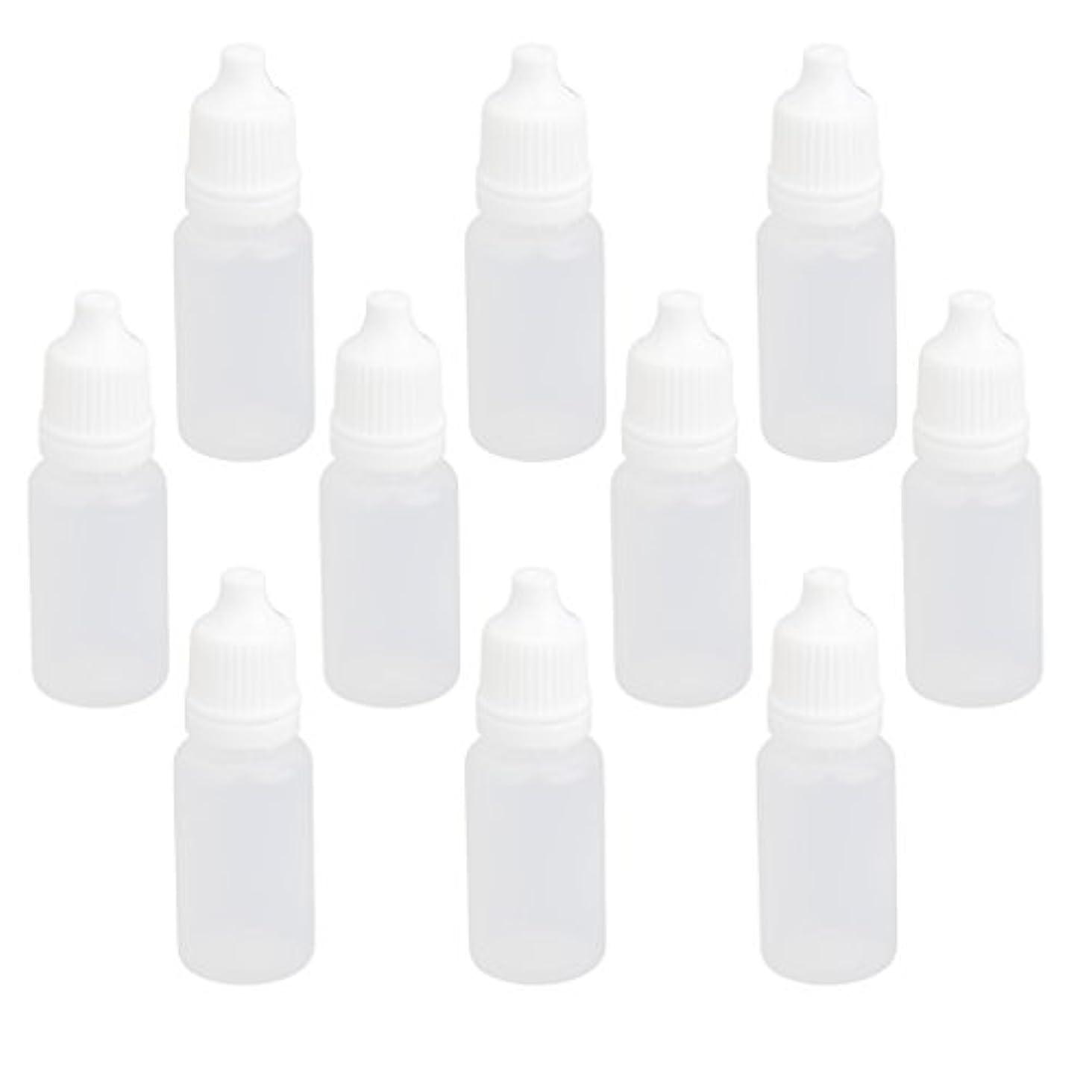 アミューズケーブルカー人工【ノーブランド品】ドロッパーボトル 点眼 液体 貯蔵用 滴瓶 プラスチック製 10個 (10ml)