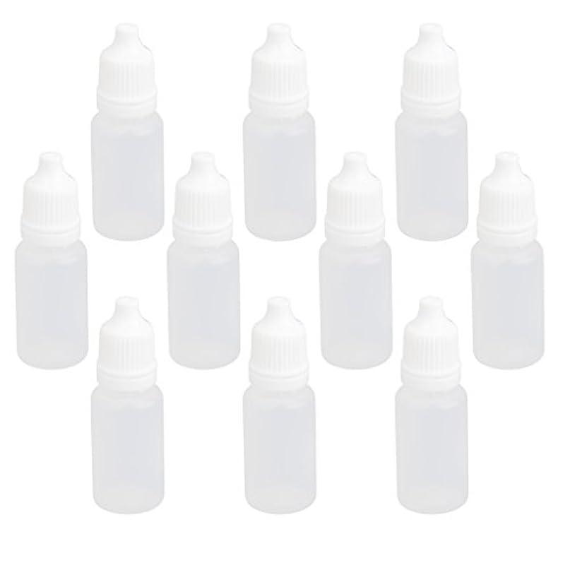 排除する無駄にレンジ【ノーブランド品】ドロッパーボトル 点眼 液体 貯蔵用 滴瓶 プラスチック製 10個 (10ml)