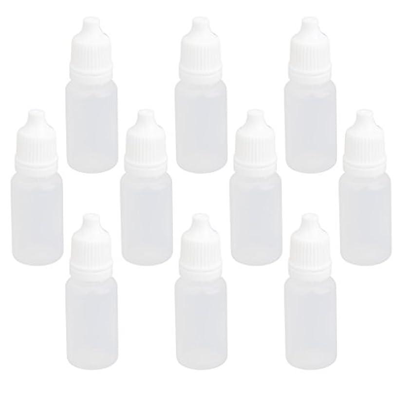 反発ローブスカーフ【ノーブランド品】ドロッパーボトル 点眼 液体 貯蔵用 滴瓶 プラスチック製 10個 (10ml)