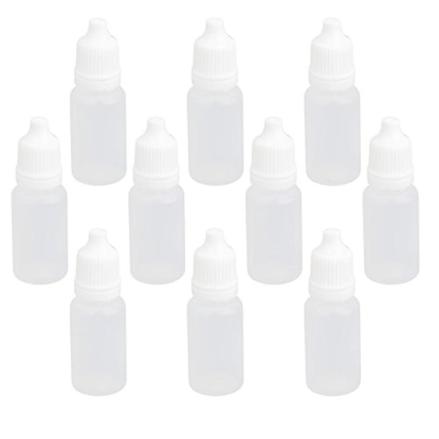 迅速ライフル差し引く【ノーブランド品】ドロッパーボトル 点眼 液体 貯蔵用 滴瓶 プラスチック製 10個 (10ml)