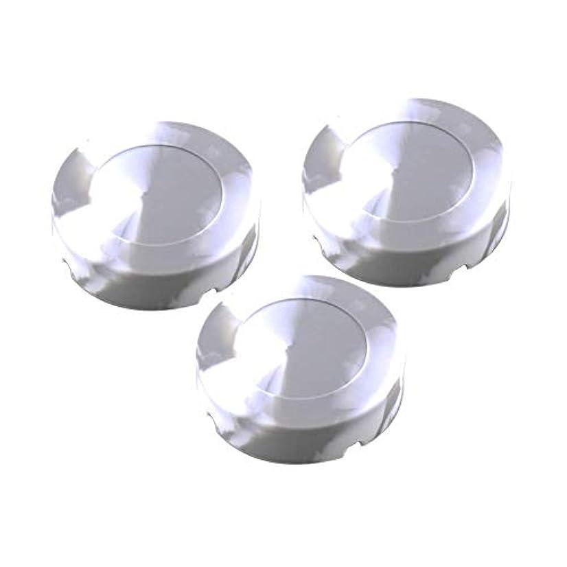 見る慰め誤解を招くシリコーンゴムの高温耐熱ラウンドデザインの灰皿 - タバコ屋内屋外のホームオフィスのために - シリカゲル-1 PC灰皿(8.3x2.3cm)(グレー) (Size : 3 pack)
