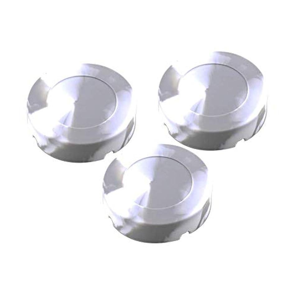 テント測る行進シリコーンゴムの高温耐熱ラウンドデザインの灰皿 - タバコ屋内屋外のホームオフィスのために - シリカゲル-1 PC灰皿(8.3x2.3cm)(グレー) (Size : 3 pack)