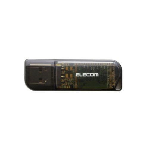エレコム USBメモリ 8GB USB2.0 ブラック MF-HMU208GBK