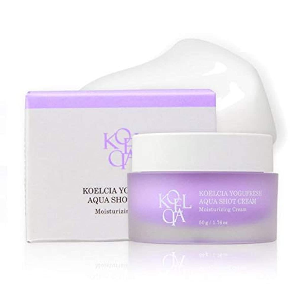 猛烈な掃除津波KOELCIA YOGUFRESH AQUA SHOT CREAM 50g/Hot K-Beauty Best Moisture Cream/Korea Cosmetics [並行輸入品]