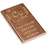半ポンド 銅バー 金塊 ペーパーウェイト エレメントデザイン (1/2ポンド銅バー)