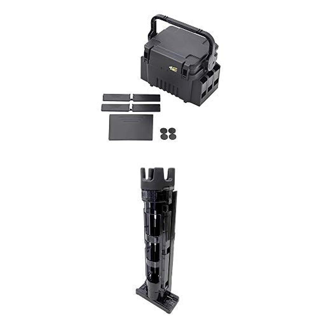 見物人医療過誤不適切なメイホウ(MEIHO) ランガンシステム VS-7055 & ロッドスタンドBM-250Light BM-250-BK Cブラック×ブラック