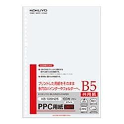 (まとめ)PPC用紙(共用紙) B5 26穴 100枚×25冊/箱 [簡易パッケージ品]