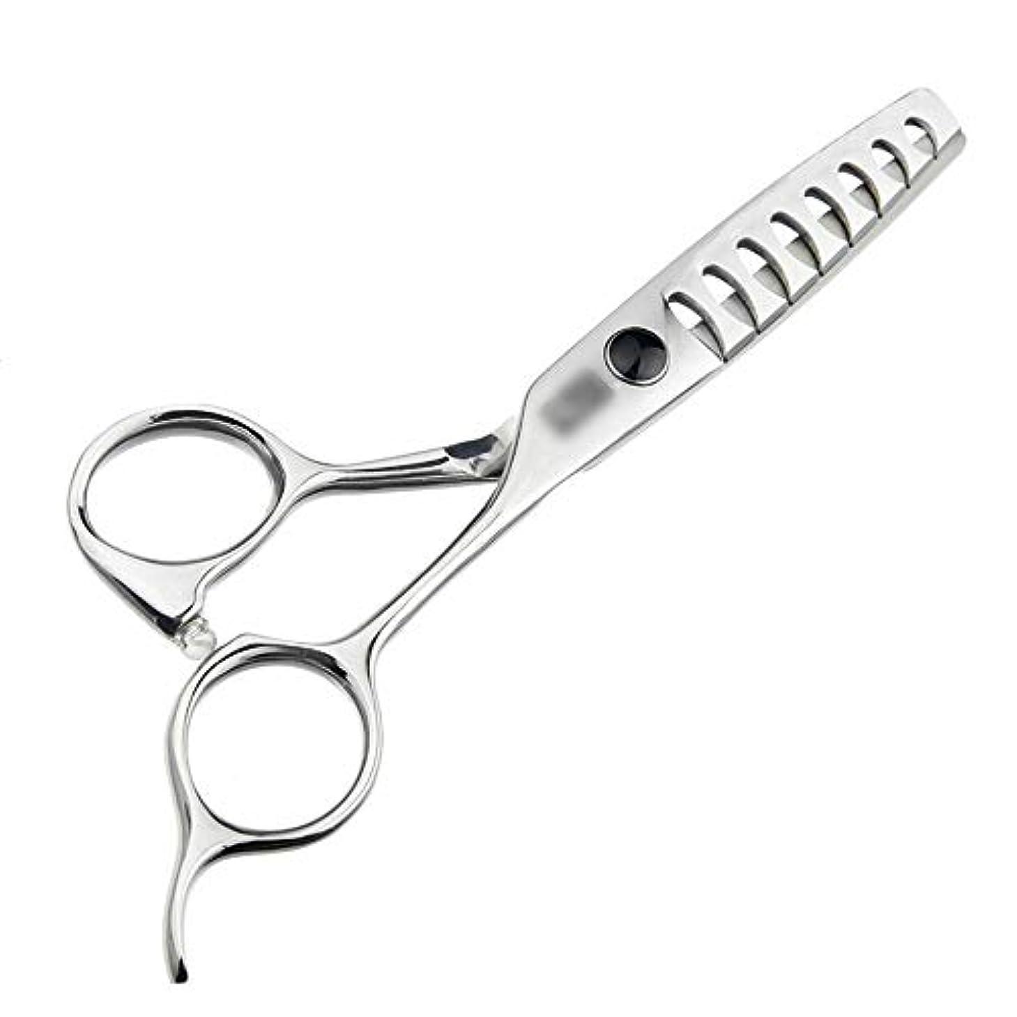 別の簡単なごめんなさいJiaoran 5.5インチのハイエンド散髪魚の骨のはさみ、ないトレース理髪はさみ、大きな魚の骨のはさみを送信する (Color : Silver)