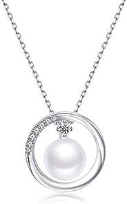 [F.Bird] 真円 本真珠 パール ネックレス レディース シルバー925 真珠 ネックレス 誕生日 プレゼント 女性(ぜひ動画ご覧