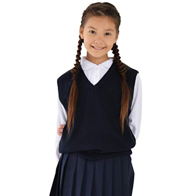 小学生 ベスト スクール ポロシャツ ニット 紺 通学 子供用 キッズ 入学