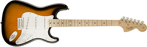 Squier by Fender エレキギター Affinity Series Stratocaster, Maple Fingerboard, Maple Fingerboard, 2-Color Sunburst