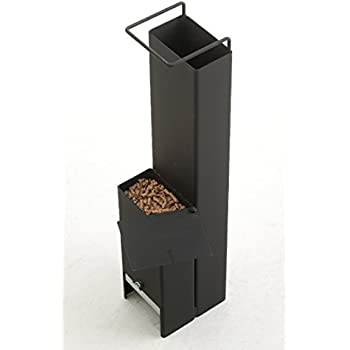携帯 ペレットストーブ 「ペレコ」 125×75mm鋼管(t=2.3) 5.8kg 高さ625mm (薪ストーブ にもなるハイブリッド型)