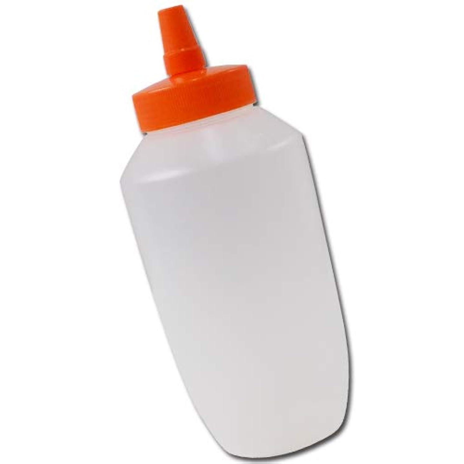 経由でかすれた真実にはちみつ容器740mll(オレンジキャップ)│業務用ローションや調味料の小分けに詰め替え用ハチミツ容器(蜂蜜容器)はちみつボトルビッグな特大サイズ