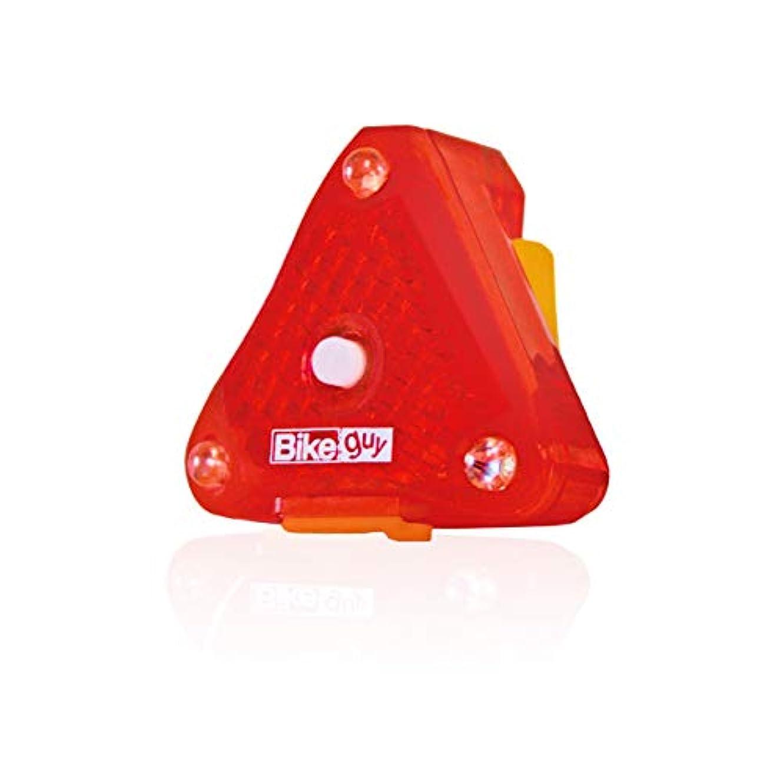 環境に優しい頑張る型Bikeguy トライスター充電式 LEDリアライト 防水 強力発光
