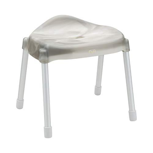レック Defi (デフィ) アルミ脚 風呂いす ワイド座面 高さ28cm (スモーク) 抗菌 BB371