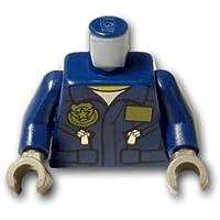 レゴブロックパーツ トルソー - ポリスフライトスーツ:[Dark Blue / ダークブルー]【並行輸入品】