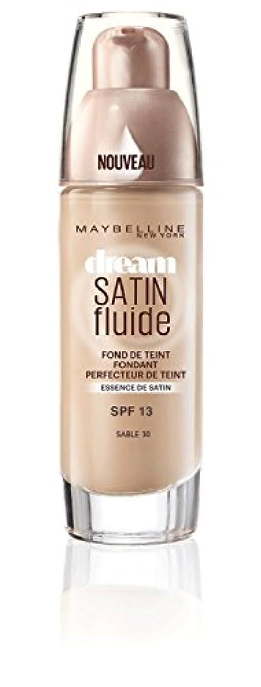 徐々に盲信対話Gemey Maybelline Font de Teint Dream Satiné Fluide - 30 Sable