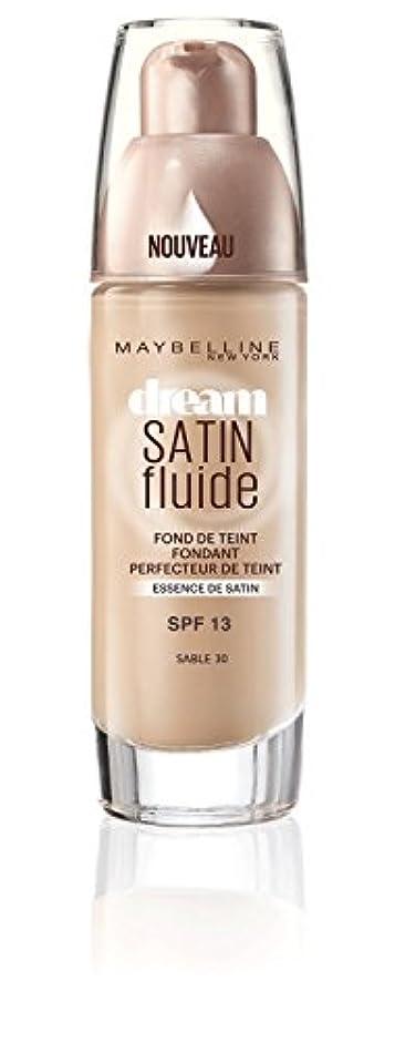 フラッシュのように素早くゴム恐れるGemey Maybelline Font de Teint Dream Satiné Fluide - 30 Sable
