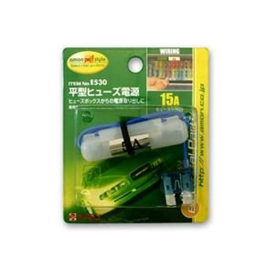 買い手壁紙ロースト(まとめ) 平型ヒューズ電源 E530 【×15セット】