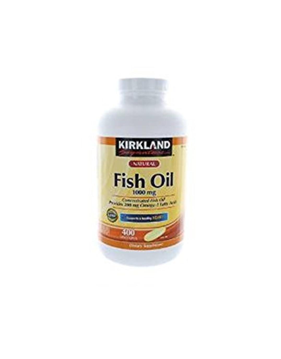 太平洋諸島蓋細心のKirkland Signature Omega-3 Fish Oil Concentrate, 400 Softgels, 1000 mg Fish Oil with 30% Omega-3s (300 mg) 1200...