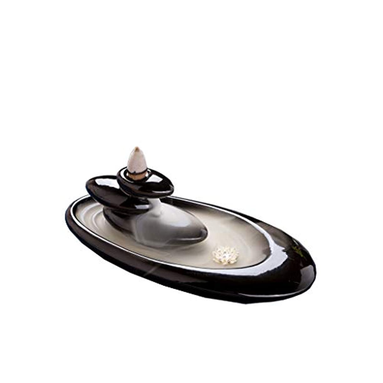 バット昆虫ハーフ芳香器?アロマバーナー クリエイティブセラミックリフロー香炉屋内家庭用リフロー香炉香炉の装飾 芳香器?アロマバーナー (Color : Black)