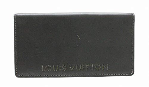 [ルイ ヴィトン] LOUIS VUITTON シカゴ ポルト バルール カルト クレディ 2つ折長札入れ レザー カーフ 黒 ブラック ロゴ入り