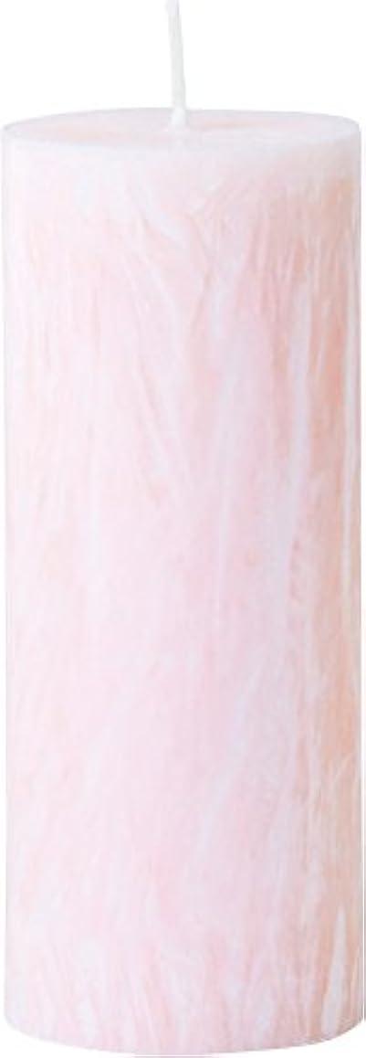 思い出す清める二層カメヤマキャンドルハウス パームマーブルピラーキャンドル 直径5cm×高さ12.7cm シェルピンク