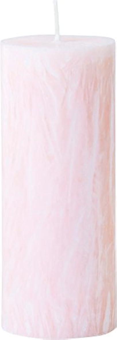 亡命誕生やりがいのあるカメヤマキャンドルハウス パームマーブルピラーキャンドル 直径5cm×高さ12.7cm シェルピンク