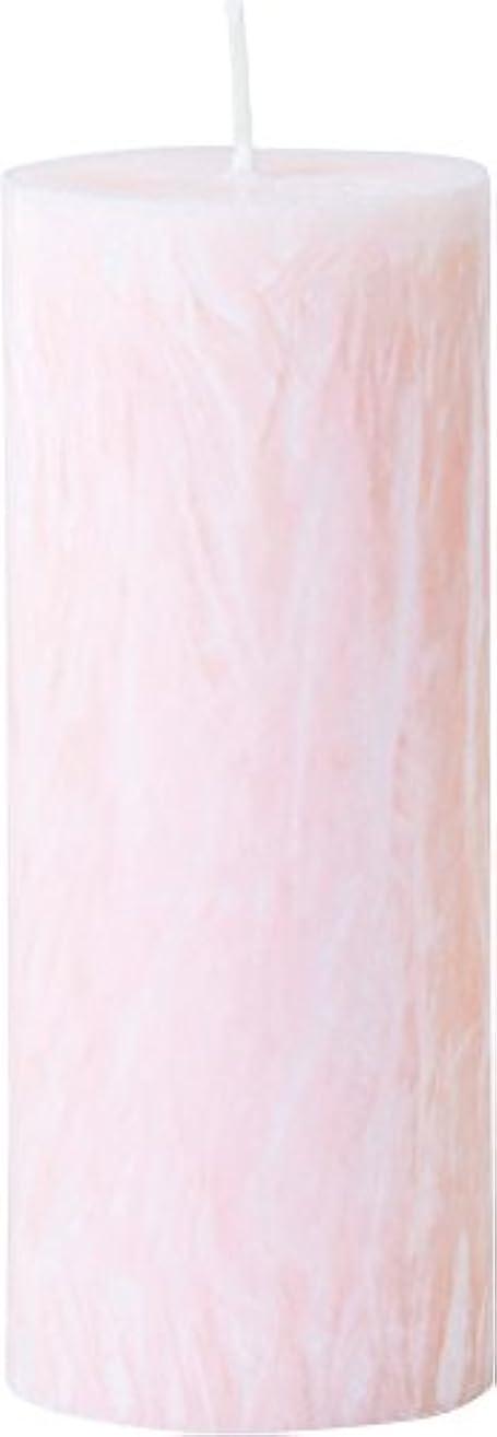 カメヤマキャンドルハウス パームマーブルピラーキャンドル 直径5cm×高さ12.7cm シェルピンク