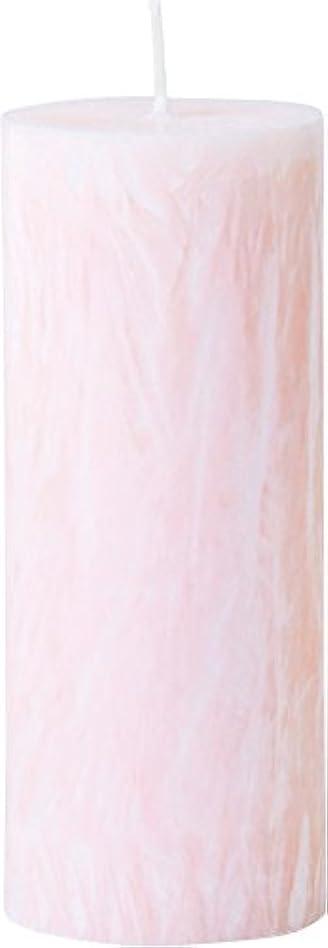講義ピア公式カメヤマキャンドルハウス パームマーブルピラーキャンドル 直径5cm×高さ12.7cm シェルピンク