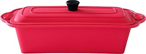 旭金属 シリコンスチーマー レンジ パスタ ホームベーカリー レシピ付き 中カゴ付き オーブン 食洗器可 メトレフランセ レッド 838-RD