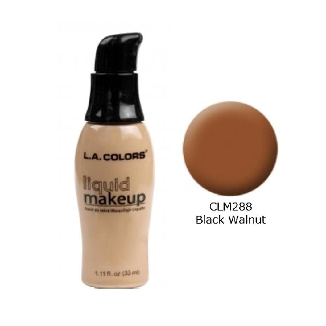 ブリリアントひそかにひそかに(3 Pack) LA COLORS Liquid Makeup - Black Walnut (並行輸入品)