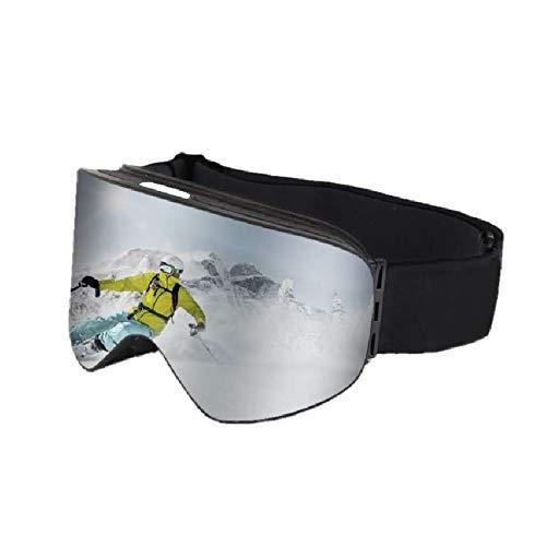 スキーゴーグル スノーゴーグル スノボゴーグル レンズ着脱可 UV400 紫外線カット 柱面レンズ 曇り止め くもりどめ 防風防塵 ヘルメット対応 男女兼用 スキー 登山などに