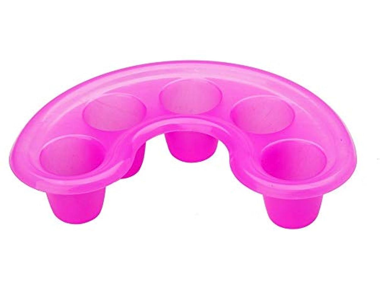 雪手伝う宿題をする強い高品質のピンクのプラスチックの釘の芸術マニキュアの釘浸し/ソーカーの皿のアセトン抵抗力がある