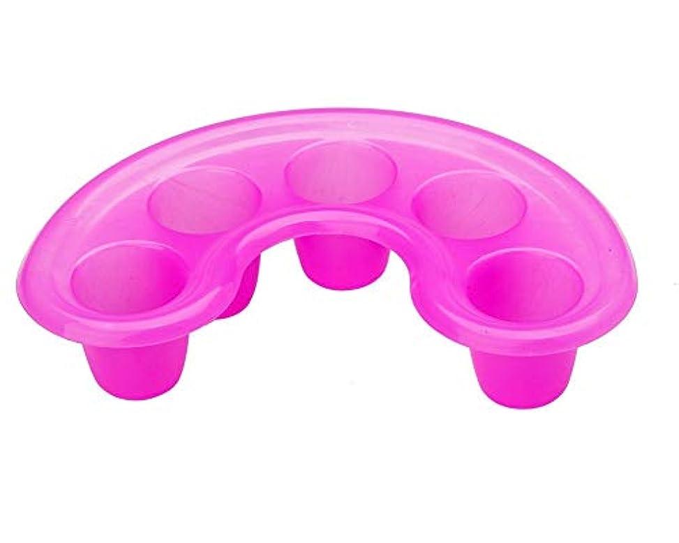 在庫クール分割強い高品質のピンクのプラスチックの釘の芸術マニキュアの釘浸し/ソーカーの皿のアセトン抵抗力がある