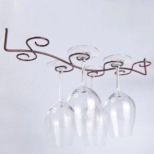 ワイングラスホルダー ドライニングラック グラスハンガー 002 8個用:クラシックブロンズ