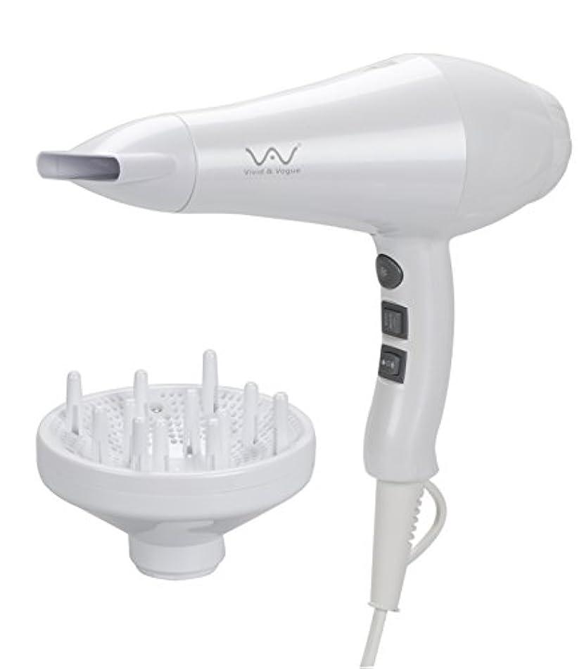 洗剤情熱代わりにVAV 遠赤外線&マイナスイオンドライヤー 風温&風量6セット 1200W  (ホワイト)