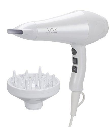 VAV 遠赤外線&マイナスイオンドライヤー 風温&風量6セット 1200W (ホワイト)