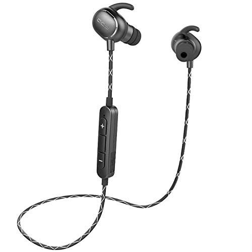 QCY QY19 イヤホン bluetooth 4.1 iPhoneでも高音質 AAC aptX 高音質コーデック iPhone8対応 ワイヤレス IPX64 防水 スポーツ CVC6.0 ノイズキャンセル メーカー保証12カ月 (AAC対応スターブラック)