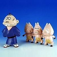 ソフビ人形シリーズ もーれつア太郎 ブタ松一家