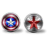 Captain America & Winter Soldier Logo earrings
