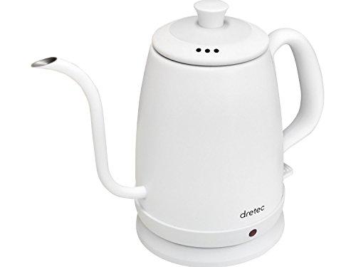 RoomClip商品情報 - dretec(ドリテック) 電気ケトル ステンレス コーヒー ドリップ ポット 細口 1.0L PO-135WTDI(ホワイト)