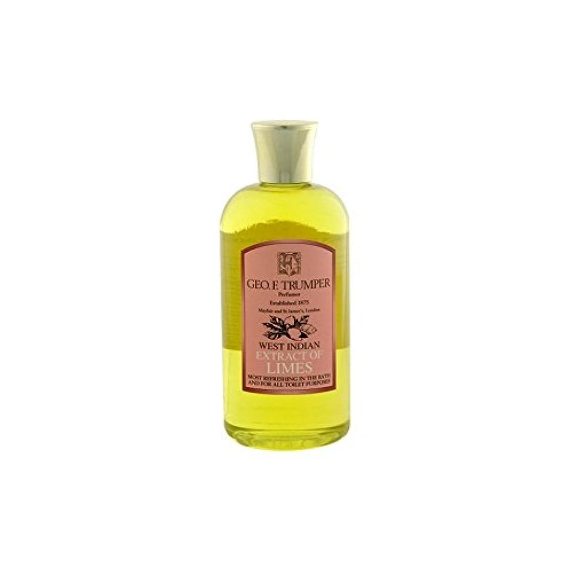 キャリア子孫発疹ライムのバス&シャワージェル - 500ミリリットル旅 x4 - Trumpers Limes Bath & Shower Gel - 500ml Travel (Pack of 4) [並行輸入品]
