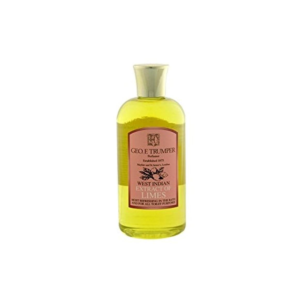 スチュアート島割り込み透過性ライムのバス&シャワージェル - 500ミリリットル旅 x4 - Trumpers Limes Bath & Shower Gel - 500ml Travel (Pack of 4) [並行輸入品]