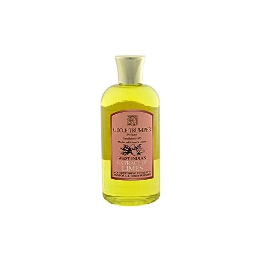 覚えている振る舞いケイ素ライムのバス&シャワージェル - 500ミリリットル旅 x4 - Trumpers Limes Bath & Shower Gel - 500ml Travel (Pack of 4) [並行輸入品]