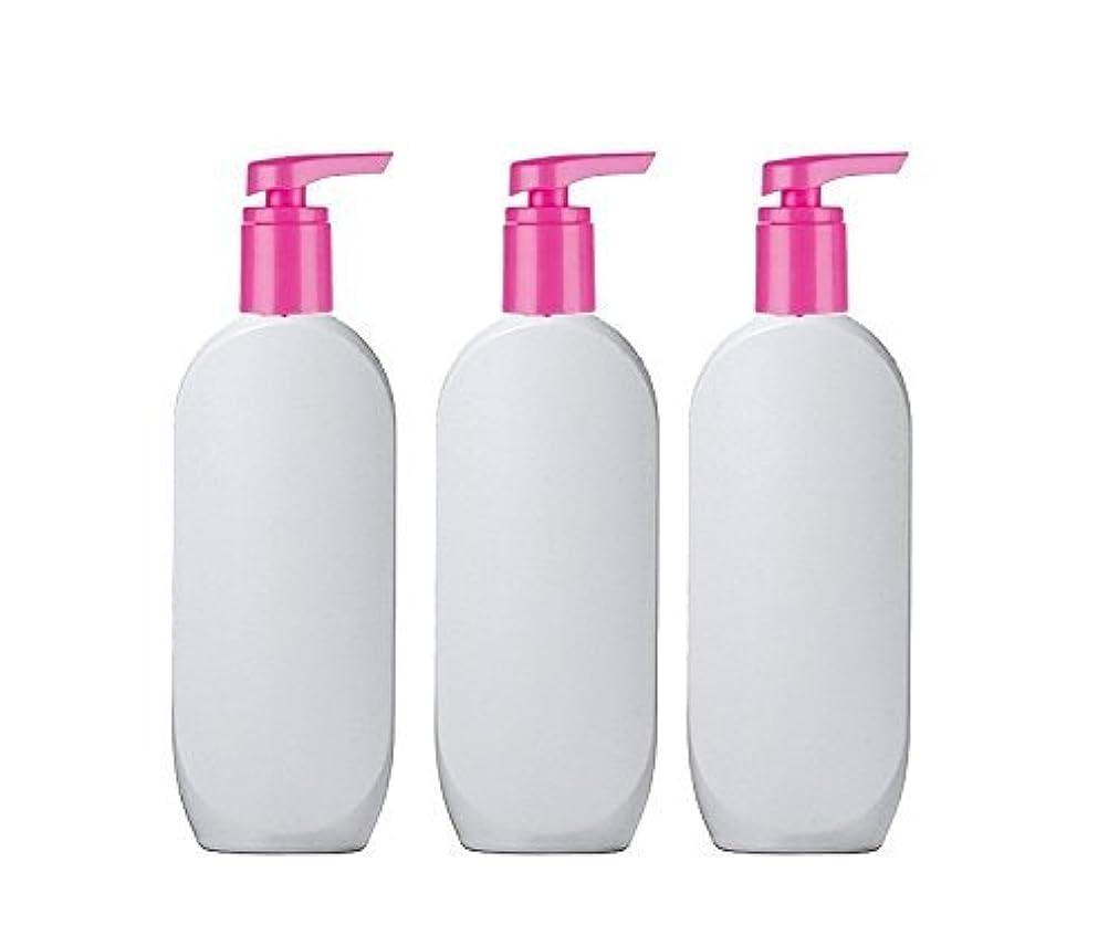 協会興奮部分3 Grand Parfums HDPE Empire StylsPlastic Lotion Pump Bottles, 8 Oz with Hot Pink Pearlized Caps, for Shampoo,...
